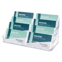 deflecto Eight-Pocket Business Card Holder, Capacity 400 Cards, Clear DEF70801
