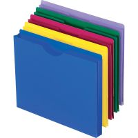 Pendaflex Expanding File Jackets, Letter, Poly, Blue/Green/Purple/Red/Yellow, 10/Pack PFX50990