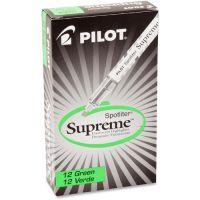 Pilot Spotliter Supreme Highlighter, Chisel Point, Fluorescent Green, Dozen PIL16004