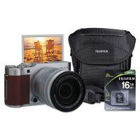 Fujifilm X-A3 Compact ILC Digital Camera, 24.2 MP, Brown FUJ600019749