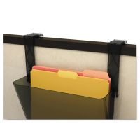 deflecto Plastic Partition Brackets, Set of Two, Black DEF391404