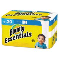 Bounty Essentials Select-A-Size Paper Towels, 11 x 5.9, 2-Ply, 104 Sheets/Roll, 12 Rolls/Carton PGC74647