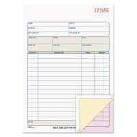TOPS Sales Order Book, 5-9/16 x 7-15/16, Three-Part Carbonless, 50 Sets/Book TOP46510