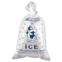Inteplast Group Ice Bag, 12 x 21, 10lb Capacity, 1.5mil, Clear/Blue, 1000/Carton IBSIC1221