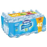 Nestle Waters Pure Life Purified Water, 16.9 oz Bottle, 40/Carton NLE1164755