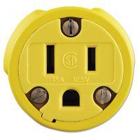 Daniel Woodhead Super-Safeway Female-End Replacement Connector, NEMA 5 15, Rubber, Yellow DWC1547