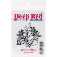 """Deep Red Cling Stamp 2""""X2.1"""" NOTM056595"""