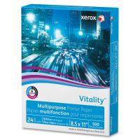 Xerox Vitality Multipurpose Printer Paper, 92 Brightness, 24 lb, 8 1/2 x 11, White, 500 Sheets/Ream XER3R02531