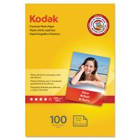 Kodak Premium Photo Paper, 8.5 mil, Glossy, 4 x 6, 100 Sheets/Pack KOD1034388