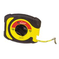"""Great Neck English Rule Measuring Tape, 3/8"""" x 100ft, Steel, Yellow GNS100E"""