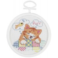 Dreaming Kitty Mini Counted Cross Stitch Kit NOTM405816