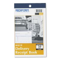 Rediform Delivery Receipt Book, 6 3/8 x 4 1/4, Two-Part Carbonless, 50 Sets/Book RED6L614