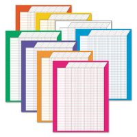 TREND Vertical Incentive Chart Pack, 22w x 28h, 8 Assorted Colors, 8/Pack TEPT73901