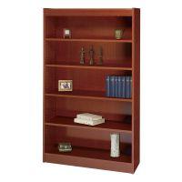Safco Square-Edge 5-Shelf Veneer Bookcase SAF1504CYC