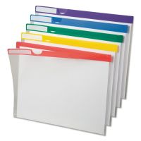 Pendaflex Clear Poly Index Folders, Letter, Assorted Colors, 10/Pack PFX50981
