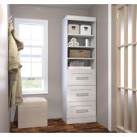 """Bestar Pur by Bestar 25"""" storage unit with 3-drawer set in White BESBES2687117"""