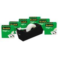 """Scotch Magic Tape Value Pack w/C38 Dispenser, 3/4"""" x 1000"""", 1"""" Core, Clear, 6/Pack MMM810K6C38"""