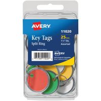 Metal Rim & Ring Key Tags 25/Pkg NOTM436309