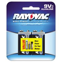 Rayovac High Energy Premium Alkaline Battery, 9V, 2/Pack RAYA16042K