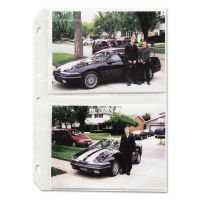 C-Line Clear Photo Pages for Four 5 x 7 Photos, 3-Hole Punched, 11-1/4 x 8-1/8 CLI52572