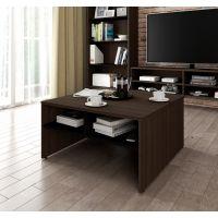 Bestar Small Space 29.5-inch Storage Coffee Table in Dark Chocolate and Black BESBES161611179