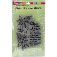 """Stampendous Fran's Cling Stamps 7.75""""X4.5"""" NOTM291318"""