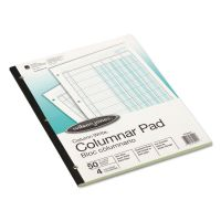 Wilson Jones Accounting Pad, Four Eight-Unit Columns, Two-sided, Letter, 50-Sheet Pad WLJG7204A