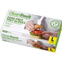 Medline Clear-Touch Polyethylene Disposable Gloves, Clear, Large, 500/Box MIICLE199096