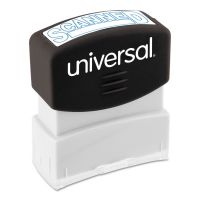 Universal Message Stamp, SCANNED, Pre-Inked One-Color, Blue UNV10157