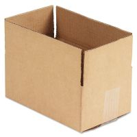 General Supply Brown Corrugated - Fixed-Depth Shipping Boxes, 10l x 6w x 4h, 25/Bundle UFS1064