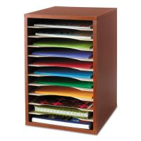 Safco Wood Desktop Literature Sorter, 11 Sections 10 5/8 x 11 7/8 x 16, Cherry SAF9419CY