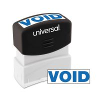 Universal Message Stamp, VOID, Pre-Inked One-Color, Blue UNV10071