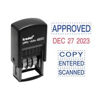 Trodat Economy 5-in-1 Micro Date Stamp, Self-Inking, 3/4 x 1, Blue/Red USSE4853L