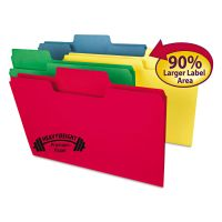 Smead SuperTab Heavyweight folder, Assorted, 1/3 Cut, Legal, 50/BX SMD15410