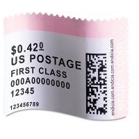DYMO LabelWriter Postage Stamp Labels, 1-5/8 x 1-1/4, White, 200/RL DYM30915