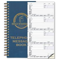 Rediform Wirebound Message Book, 5 x 2 3/4, Two-Part Carbonless, 600 Sets/Book RED50079
