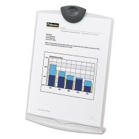 Fellowes Copy Stand, Plastic, 75 Sheet Capacity, Platinum/Charcoal FEL20000