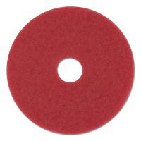 "Boardwalk Standard Floor Pads, 13"" Diameter, Red, 5/Carton BWK4013RED"