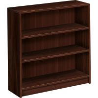 HON 1870 Series Bookcase, Three Shelf, 36w x 11 1/2d x 36 1/8h, Mahogany HON1872N