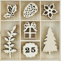 Themed Mini Wooden Flourishes 35/Pkg NOTM035456