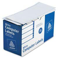Avery Dot Matrix Printer Shipping Labels, 1 Across, 2 15/16 x 5, White, 3000/Box AVE4076