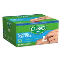Curad Alcohol Swabs, 1 x 1, 200/Box MIICUR45581RBI