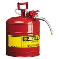 """JUSTRITE AccuFlow Safety Can, Type II, 5gal, Red, 5/8"""" Hose JUS7250120"""