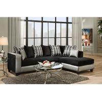 Flash Furniture Riverstone Implosion Black Velvet Sectional FHFRS412406SECGG