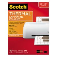"""Scotch Letter Size Thermal Laminating Pouches, 5 mil, 9"""" x 11 1/2"""", 100/Pack MMMTP5854100"""