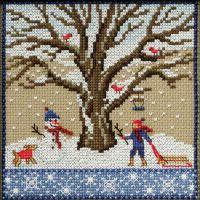 Winter Oak Counted Cross Stitch Kit NOTM052792