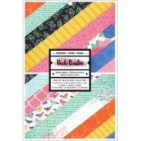 "American Crafts Single-Sided Card Pad 7""X10"" 36/Pkg NOTM300854"