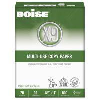 Boise X-9 Multi-Use Copy Paper, 92 Brightness, 20 lb, 8 1/2 x 11, White, 5000 Sheets/Carton CASOX9001