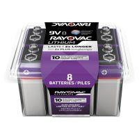 Rayovac Lithium Batteries, 9V, 8/Pack RAYR9VL8G