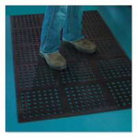ES Robbins Pro Lite Four-Way Drain Mat, 36 x 120, Black ESR184717